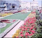 TV6198 : Flowerbeds on Eastbourne promenade, 1965 by G H Clarke