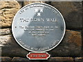 NZ2464 : Plaque re the Durham Tower by Mike Quinn