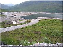 NN3268 : A new track to Loch Treigside beside Allt Fèith Chiarain by Pip Rolls