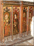 TG3912 : St Margaret's church - rood screen by Evelyn Simak