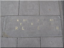 TQ2075 : Plaque in the pavement of Upper Richmond Road near Sheen Gate Gardens, SW14 by Mike Quinn