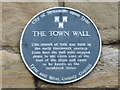 NZ2463 : Plaque on the 14th C town walls by Mike Quinn