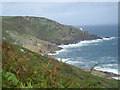 SW4323 : Sea cliffs near Tater-du by Row17