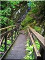 NM9641 : Footbridge Over Abhainn Teithil Gorge by Iain Thompson