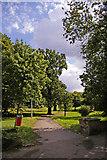 TQ2992 : Arnos Park from Morton Crescent entrance, London N14 by Christine Matthews