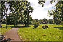 TQ2992 : Path across Arnos Park, London N14 by Christine Matthews