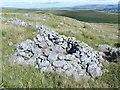 SN7116 : Circular wall beside ancient mountain road by Nigel Davies
