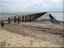TQ9485 : Shoebury Boom by Nigel Cox