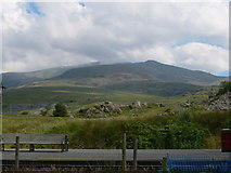 SH5752 : View towards Snowdon from Rhyd Ddu Station by Eirian Evans