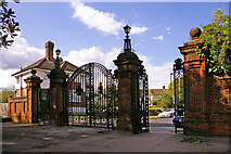 TQ2992 : Entrance Gates to Arnos Park, London N14 by Christine Matthews