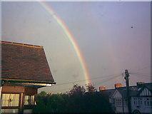 TQ4387 : Rainbow on Middleton Gardens, Gants Hill by Robert Lamb