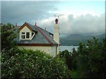 SH6215 : Cottage behind Penralt House (Cader Idris in distance) by David Bowen