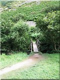 SS6549 : Bridge over The River Heddon by Basher Eyre