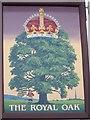 SU1231 : Sign for the Royal Oak by Maigheach-gheal