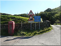 NY2101 : Hardknott Pass: motorists' warnings by Chris Downer