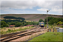 NO8686 : Approaching Stonehaven station by Nigel Corby