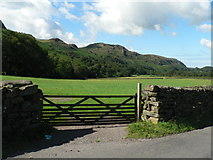 NY2101 : Hardknott Pass: view along Esk valley by Chris Downer