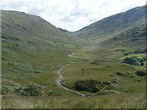 NY2201 : Hardknott Pass: down and up the Duddon valley by Chris Downer