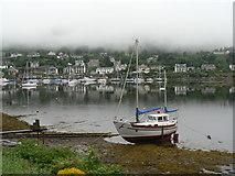 NR8668 : Tarbert: misty morning by Chris Downer