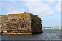 SW5130 : West pier of St. Michael's Mount harbour by Bob Embleton
