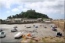 SW5130 : The harbour, St. Michael's Mount by Bob Embleton