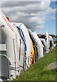 SW8235 : Inflatable tenders lined up at Mylor Yacht Harbour by Rod Allday