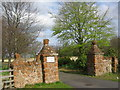 NT4780 : Luffness Mill House gateposts by Renata Edge