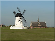 SD3727 : Lytham: the windmill and lifeboathouse by Chris Downer