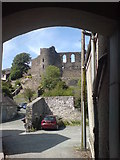 SM9515 : View of Haverfordwest Castle through the archway by Deborah Tilley