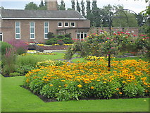 NY3853 : Gardens at the Carlisle Crematorium by Darrin Antrobus