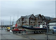 SW8132 : Boatyard near the National Maritime Museum, Falmouth by Simon Huguet