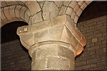 SD6178 : St Mary's Church, Kirkby Lonsdale, Cumbria - Capital by John Salmon
