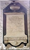 SD5192 : Holy Trinity Church, Kendal, Cumbria - Wall monument by John Salmon