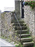 SX7176 : Steps, Widecombe-in-the-Moor by Maigheach-gheal