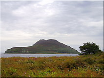 NS0531 : Holy isle from  Innean Beag at Clauchlands by Alan Murray Walsh