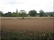 SO7729 : Arable fields near Staunton by Pauline E