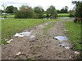 SO7629 : Moat near Harts Farm by Pauline E