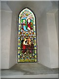 SU7037 : Stained glass window in the chancel at  St Nicholas, Chawton by Basher Eyre
