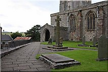 SD4983 : St Peter's Church, Heversham, Cumbria - Porch by John Salmon