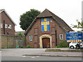 TQ2567 : St George's church, Central Road, Morden by Stephen Craven
