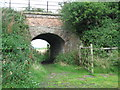 NZ1483 : Railway bridge on disused line south of Molesden, Northumberland by Norman MacKillop