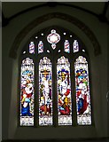 SX7176 : Stained glass window, St Pancras Church, Widecombe-in-the-Moor by Maigheach-gheal