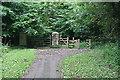 SX8159 : Gate on the Cyclepath by Tony Atkin