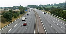 SP4795 : M69 Motorway towards junction 2 by Mat Fascione