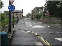 SK1482 : Castleton - Mini Roundabout Entrance to Car Park by Alan Heardman
