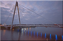 SD3317 : Bridge over Marine Lake, Southport by Gary Rogers