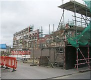 ST8558 : Remains of Usher's Brewery - Back Street by Betty Longbottom