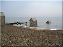 TM3034 : Art installation on Felixstowe Beach by Chris Holifield