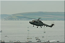 SZ1090 : Bournemouth Air Festival 2008 - Royal Navy Lynx over Poole Bay by Mike Searle
