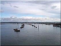 SZ3394 : Marina in Lymington harbour by Bob Embleton